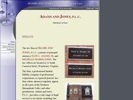 Adams and Jones, P.L.C. (Winchester, Virginia)
