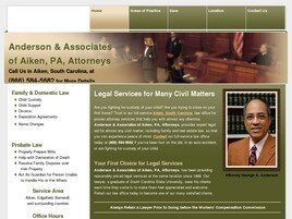 Anderson & Associates of Aiken, P.A., Attorneys(Aiken, South Carolina)