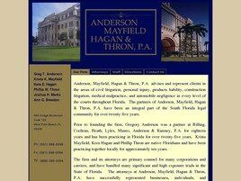 Anderson, Mayfield, Hagan & Thron, P.A. (City Of Sunrise,  FL)