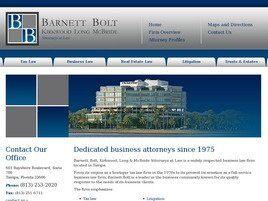 Barnett, Bolt, Kirkwood, Long & McBride, P.A. (Tampa, Florida)