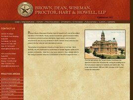 Brown, Dean, Wiseman, Proctor, Hart & Howell, L.L.P.(Fort Worth, Texas)