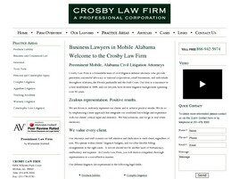 Crosby Law Firm PC ( Grove Hill,  AL )