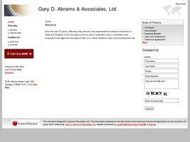 Gary D. Abrams & Associates, Ltd. (Chicago, Illinois)