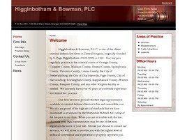 Higginbotham & Bowman, PLC (Orange, Virginia)