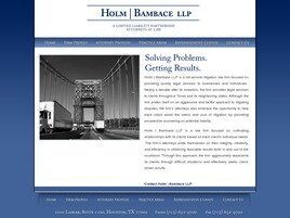Holm Bambace LLP ( Houston,  TX )