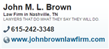 John M. L. Brown ( Nashville,  TN )
