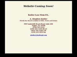 Kotler Law Firm P.L. (Naples,  FL)