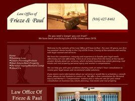 Law Office of Frieze & Paul (Sacramento Co.,   CA )