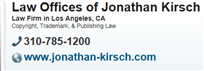Law Offices of Jonathan Kirsch ( Los Angeles,  CA )