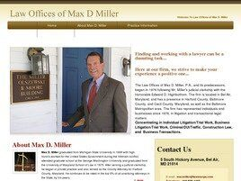 Law Offices of Max D. Miller, P.A. ( Bel Air,  MD )