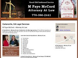 M. Faye McCord - Attorney At Law ( Cartersville,  GA )