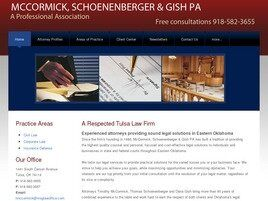 McCormick, Schoenenberger & Gish A Professional Association ( Oklahoma City,  OK )