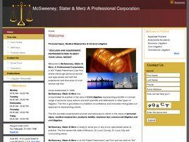 McSweeney, Slater & Merz A Professional Corporation (St. Louis Co.,   MO )