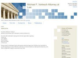 Michael F. Vertesch Attorney at Law (Indianapolis,  IN)