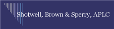 Shotwell, Brown & Sperry A Professional Law Corporation ( Monroe,  LA )