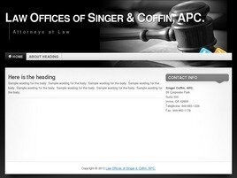 Singer & Coffin A Professional Corporation (Irvine,  CA)