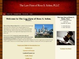The Law Firm of Ross S. Sohm, PLLC (Mecklenburg Co.,   NC )