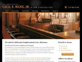The Law Offices of Cecil E. Ricks, Jr. A Law Corporation ( Tustin,  CA )
