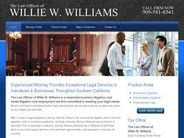 The Law Offices of Willie W. Williams (San Bernardino Co.,   CA )