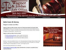 Wagner & Jordan Law Offices ( Battle Creek,  MI )