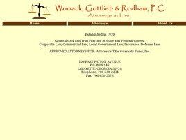 Womack, Gottlieb & Rodham, P.C. (Bartow Co.,   GA )